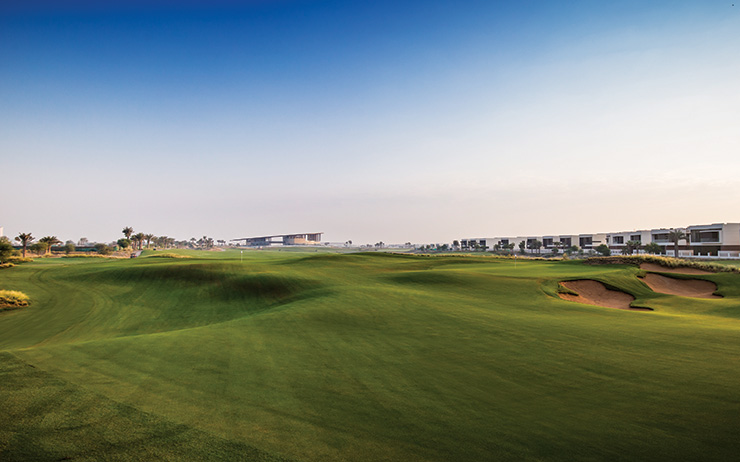 A panoramic view of the 1st and 8th greens. (Photo: Farooq Salik)