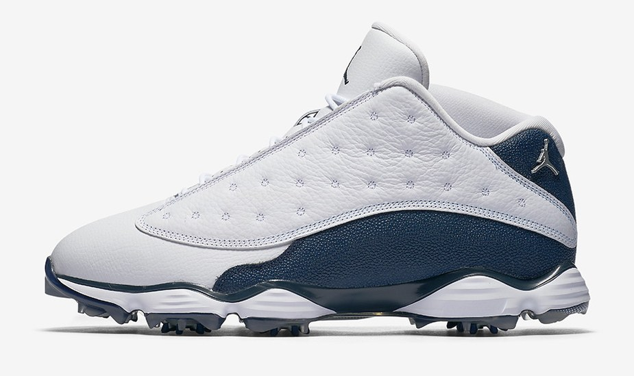 18da08b4f Here are a few more looks at the brand-new navy Air Jordan 13 golf shoes.