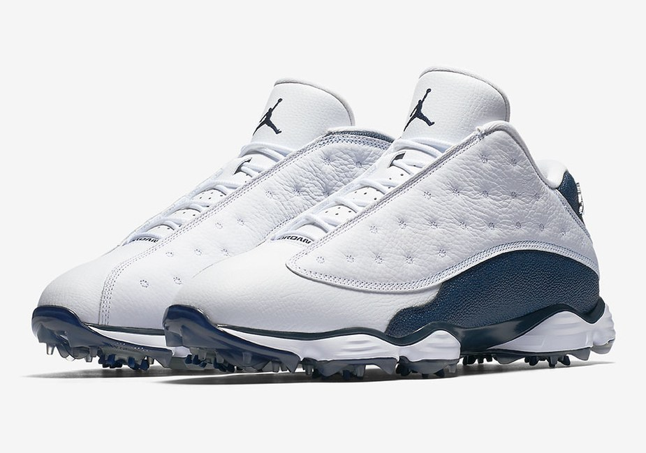 e9a0bbf8c552 Early look at the navy Air Jordan 13 golf shoes - Golf Digest Middle East