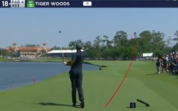 players championship 2018  this tiger woods stinger with