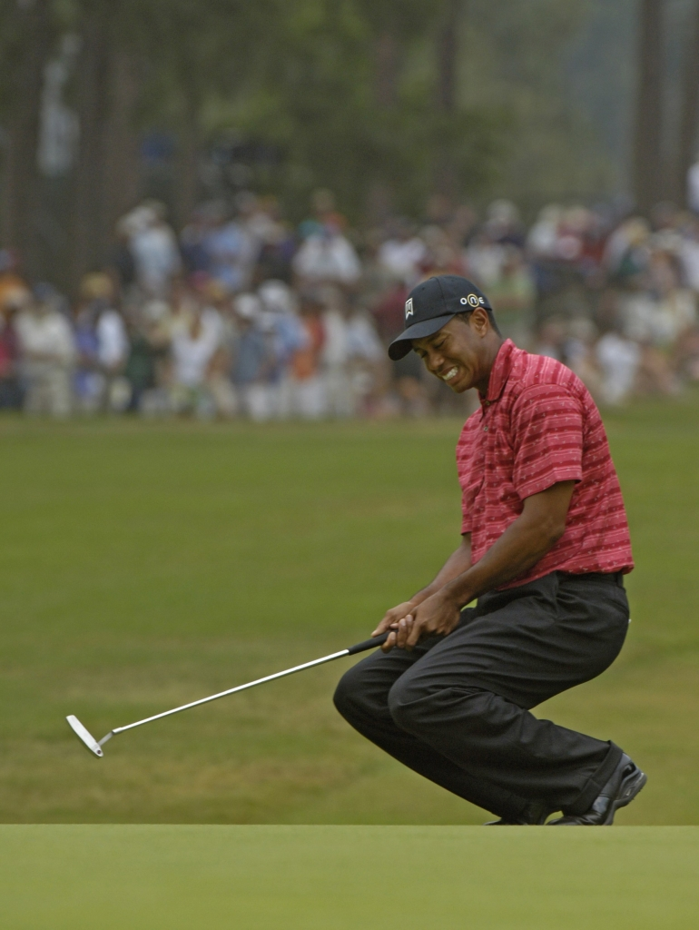 tiger woods has never come from behind to win a major  but