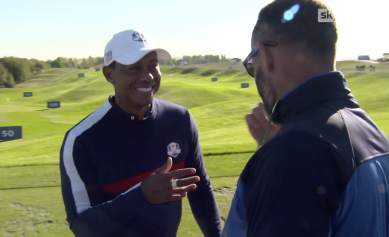 tiger woods plays prank on former ryder cup opponent with