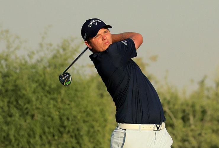 c3cfa3fc5 Callum Shinkwin en-route to victory at Dubai Hills Golf CLub in the Omega  Dubai Desert Classic Shootout