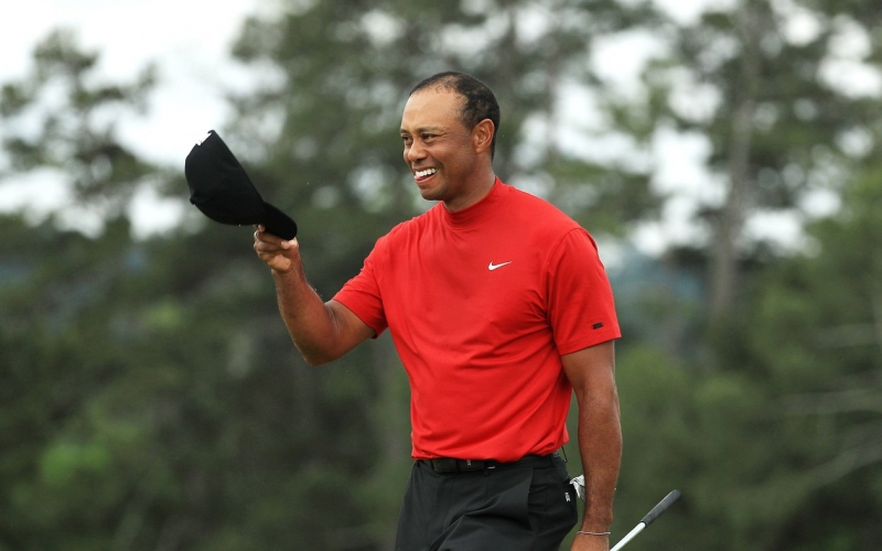 fd3686f3 A win for the ages, and now a comeback for them, too. Tiger Woods, Masters  champion again, for a fifth time.